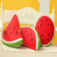 2017 Birthday Gift Fruit Watermelon Throw Pillow Plush Toy Home Textile Sofa Car Office Back Seat