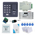 RFID leitor de Impressão Digital sistema de Controle de Acesso Eletrônico com Gota Parafuso Lock + controle remoto + alimentação + botão exit + porta bell
