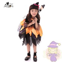 Girls Cartoon Witches Clothing Lace Character Costume Baby Fun Dress Halloween Party Dresses Children S Show