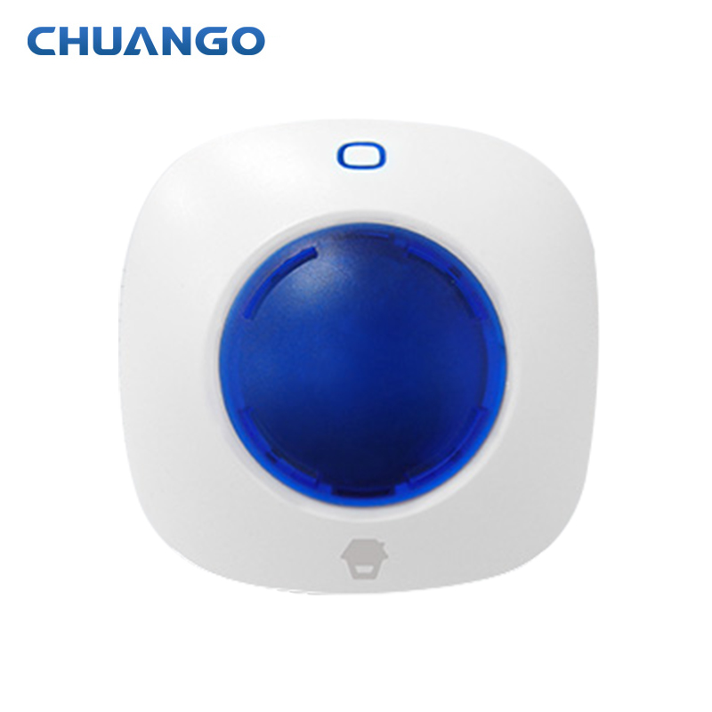 Chuango 315mhz WS-105 Mini Wireless Strobe Warning Siren for chuango Home Security Burglar Alarm System panels and sensors цена и фото