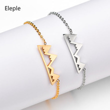Eleple Simple Snow Mountains Hollow Bracelet Stainless Steel Elegant Bracelets for Female Fashion Jewelry Manufacturers S-B322