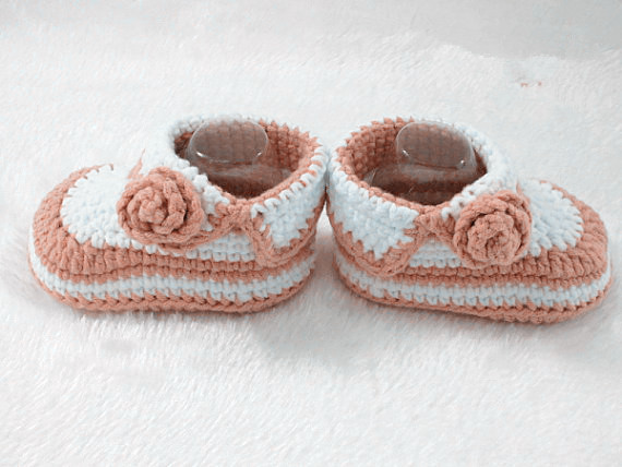 Crochet Baby Shoes Baby Booties Handmade Booties Infant Crochet Baby Knitting Shoes For Baby Girls