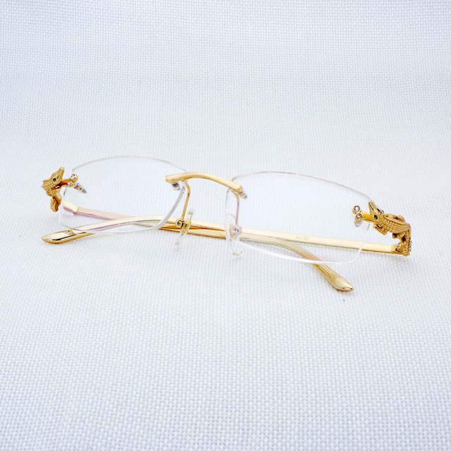 5fd3c12ae40e Vintage Square Clear Glasses Men Rhinestone Rimless Eyewear for Women  Accessories Retro Eyeglasses for Reading Gafas Lunette