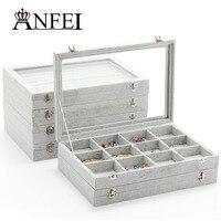 ANFEI 16 Estilo Mezclado Caja De Joyería Para la Pulsera/Collar/Gafas/Anillo Cajas de Exhibición de La Joyería Caja de Regalo de Cumpleaños caja de Almacenamiento de envases