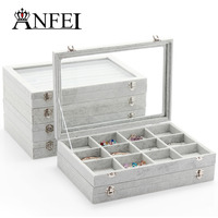 ANFEI 16 Style Mixed Jewelry Box For Bracelet/Necklace/Glasses/Ring Boxes Jewelry Display Case Birthdays Gift Packaging Storage