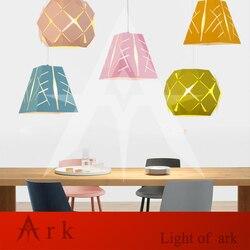 Modern Art kolorowe malowany metal lampy wiszące klasyczne dla jadalnia Bar restauracja światła show Room