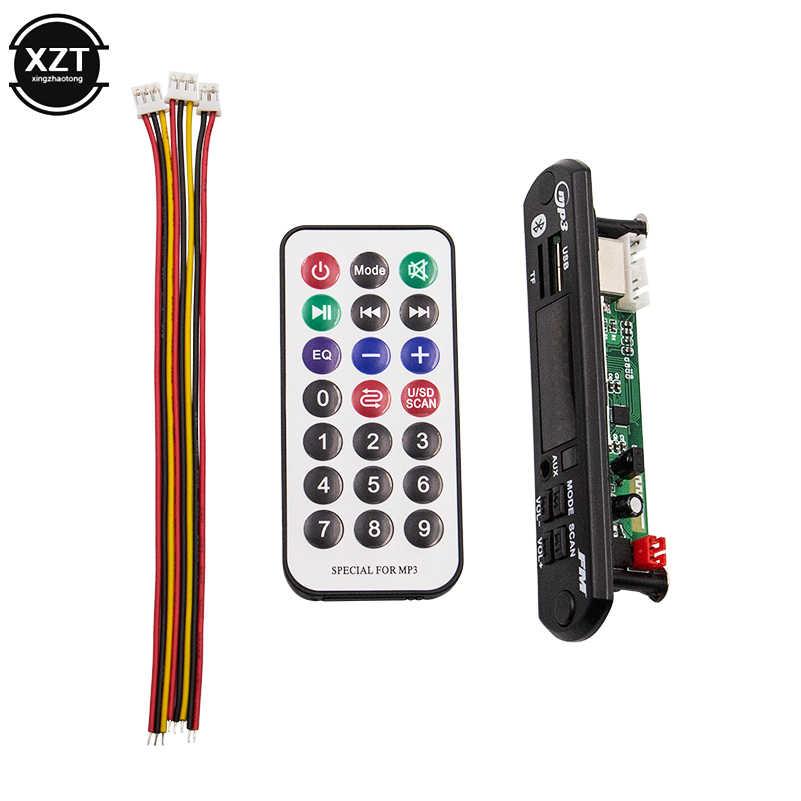 DC 12 V MP3 モジュールデコーダボードワイヤレス車の Bluetooth 5.0 サポート FM SD カード大画面 JQ-D091BT 音楽スピーカー