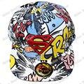 Superman Graffiti Snapback Caps Adult Hip-hop Hats Baseball Cap  color Hat Clown for Men Women