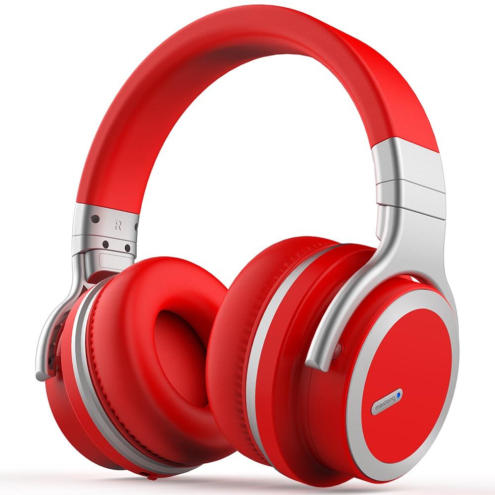 Meidong e7pro cancelamento de ruído ativo bluetooth fone de ouvido sem fio bluetooth fone com super alta fidelidade graves profundos 30 horas playtime