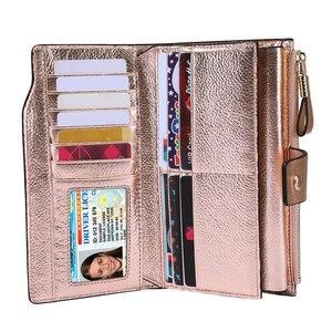 Женский кошелек ITSLIFE, из натуральной кожи, с защитой от радиочастотной идентификации, на молнии, с отделением для карт, кошелек для монет Iphone, 2019