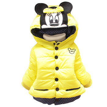 Autumn Winter Baby Girls Jackets Infant Outerwear Cotton Hooded Coats For Baby Down Jacket Baby Coat Newborn Baby Girls Clothes 1