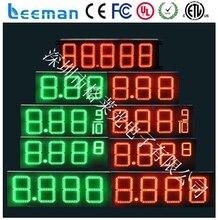 Leeman LED ip65 водонепроницаемый СВЕТОДИОДНЫЕ газа/цены на нефть станции дисплей/знак бензин, дизельное топливо, Цену Наличными и Кредитные Карты