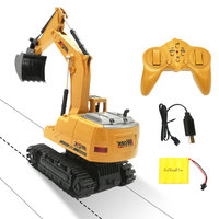 8CH Simulation RC Excavator RC Car Toys with Music and Light Children's Boys RC Gifts RC Engineering Tractor Brinquedos