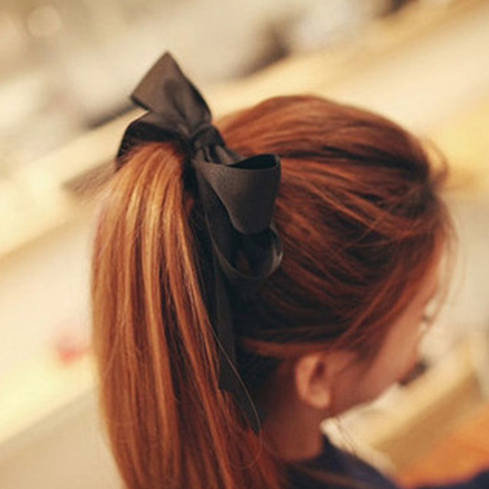 1Pc Boutique Headwear Ribbon Girl Bow Elastic Hair Tie Rope Hair Band bows DIY Hair Accessories Best Holiday gift
