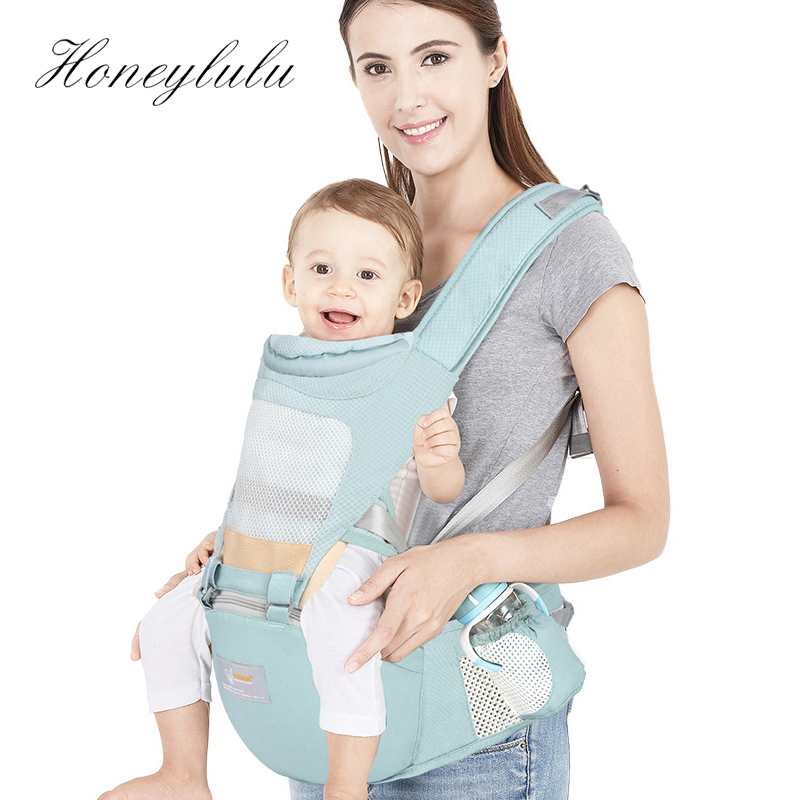 Honeylulu Portable Seat Belt Baby Carrier 3D Honeycomb Mesh Fashion Sling For Newborns Ergoryukzak Backpack Kangaroo For Baby