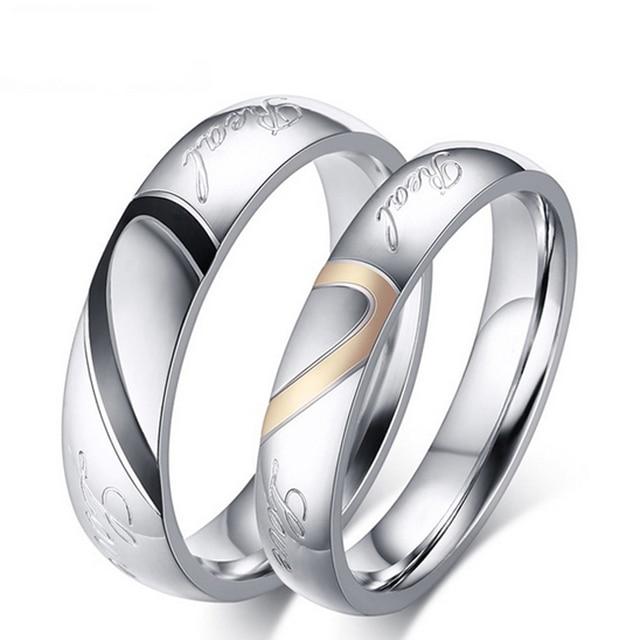 Mode Liebe Herz Paar Ring Fur Frauen Manner Mit Ringe Grosse 14