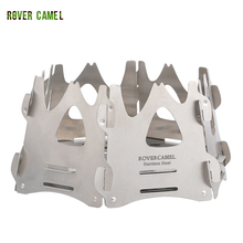 Rover Camel Hexagon backpacking wood stove Camping Wood Stove Portable Outdoor Folding stainless steel Burning