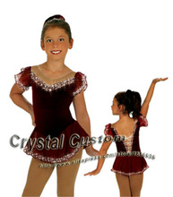 Hot Selling Ice Skating Dress For Girls Spandex Graceful New Brand Figure Skating Competition Dress Customized DR2642