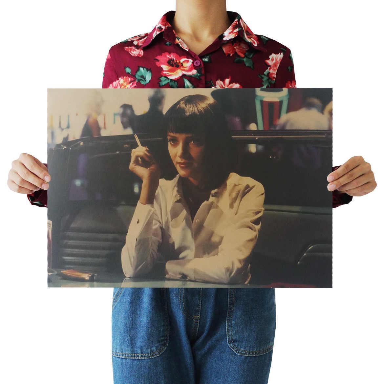 Dlkklb Film Retro Poster Perhiasan Vintage Anime Poster Cetakan Ruang Tamu Dekoratif Lukisan Cafe Kraft Kertas Stiker Dinding