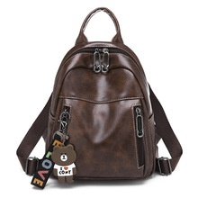 Womens Backpack New Fashion Women High Quality PU Larger Capacity Female Leisure mochila mujer