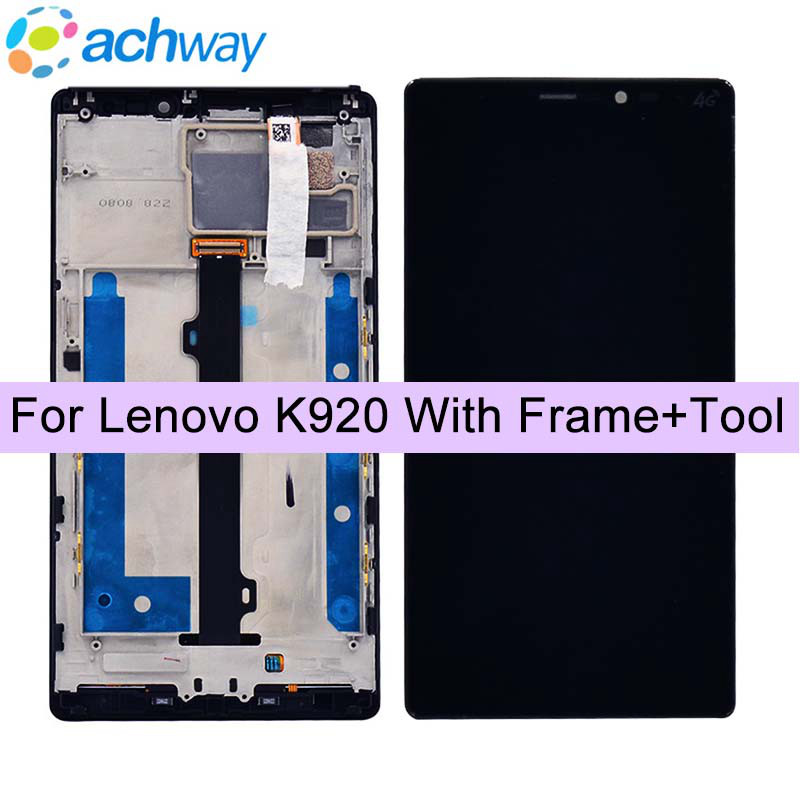6.0 Pour Lenovo K920 Vibe Z2 Pro LCD Affichage à L'écran Tactile Digitizer Assemblée 2560x1440 + Cadre Pour lenovo Z2 Affichage Remplacement
