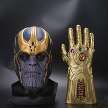 Avengers Thanos Mask Infinity War Gloves Superhero Cosplay Costumes Halloween Party Props Adlut Gift