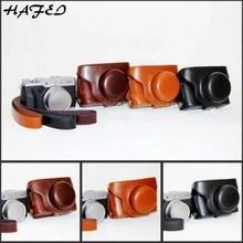 HAFEI камера видео сумка чехол PU Жесткий кожаный чехол подходит для Fujifilm Fuji X30 x-30 камера с ремешком 3 цвета черный/кофе/коричневый