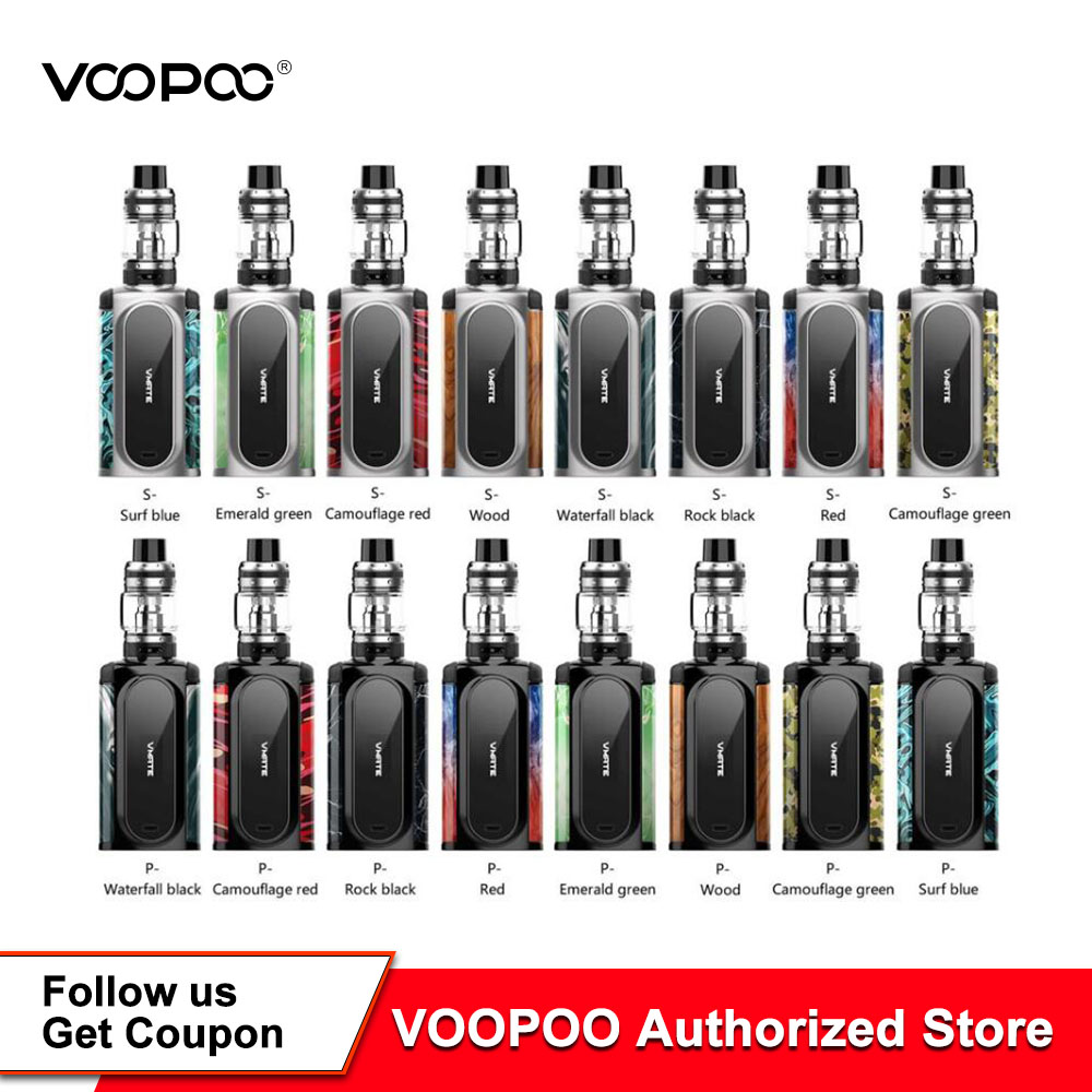 US $37 52 21% OFF|Original VOOPOO VMATE Kit 200W Voopoo Vmate Mod 8ml  Uforce T1 Tank Electronic Cigarette Vape Kit Dual 18650 Battery Not  Included-in