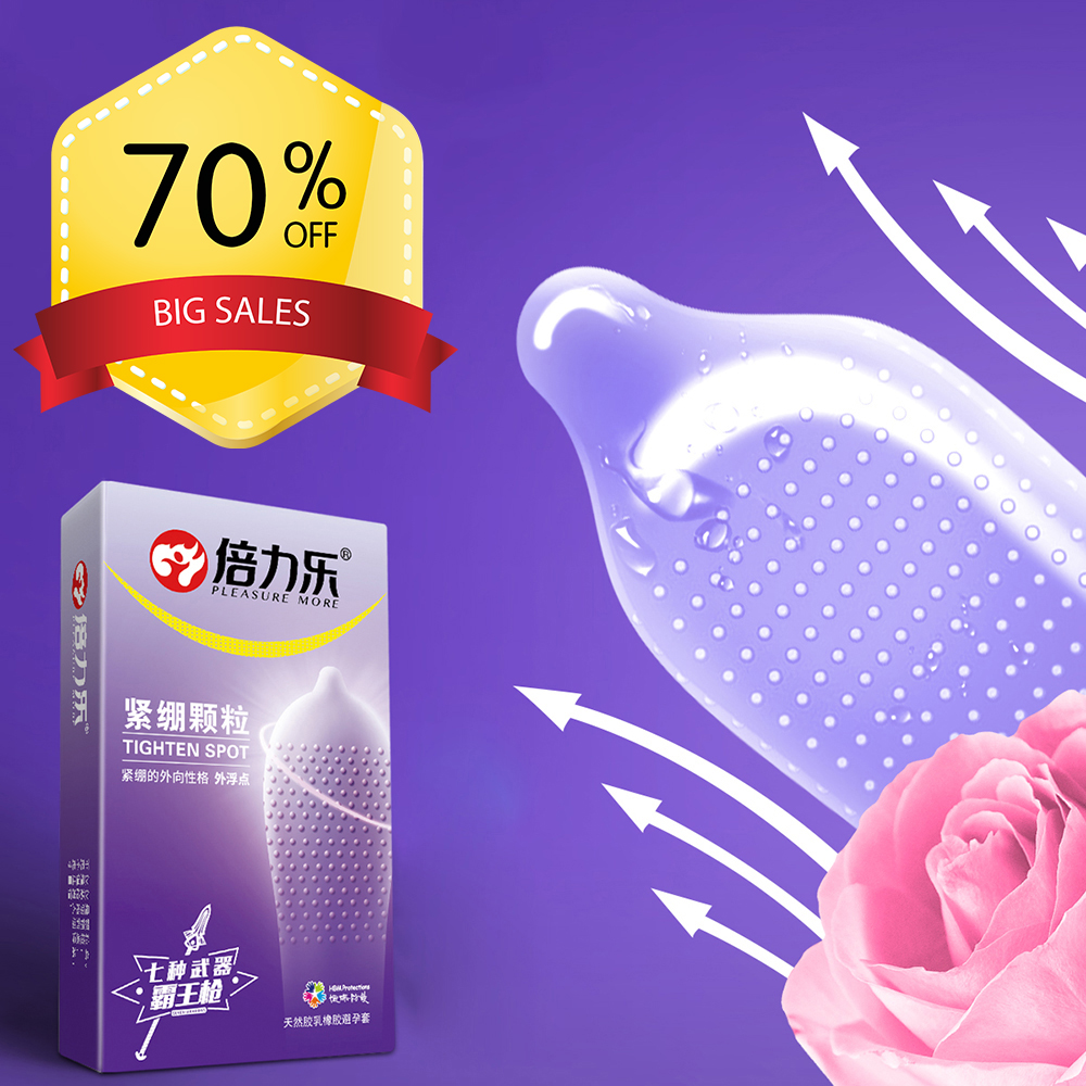 10pcs Condoms For Man Natural Latex Tight Penis Sleeve Sex Toys Ice And Fire Large Dots Spike Condom Sex Products Intimate Goods