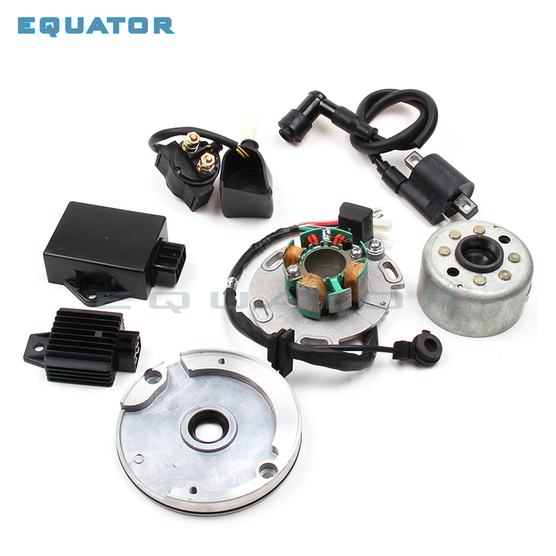 motorcycles High Performance Racing Magneto coil Stator Rotor with other igniting devices Kit FOR Dirt Bike LF Lifan 150cc CDI lifan 125 125cc engine left crankcase stator rotor casing case dirt bike atv