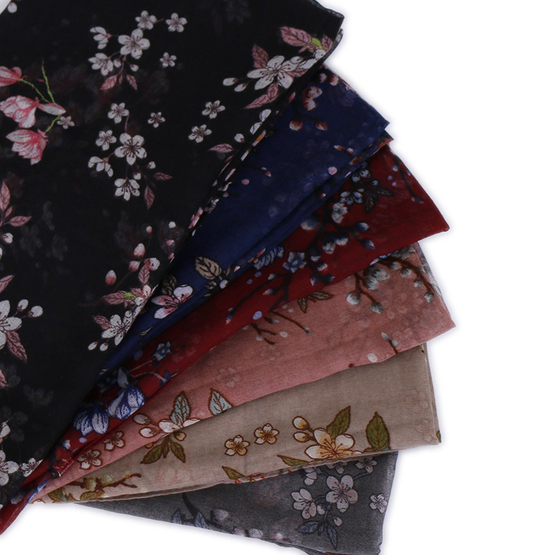 Ladies Printe Floral Viscose Scarf Shawls Muslim Hijab Flower Wraps Headband Turbans Autumn Scarves/scarf 180*80cm 10pcs/lot