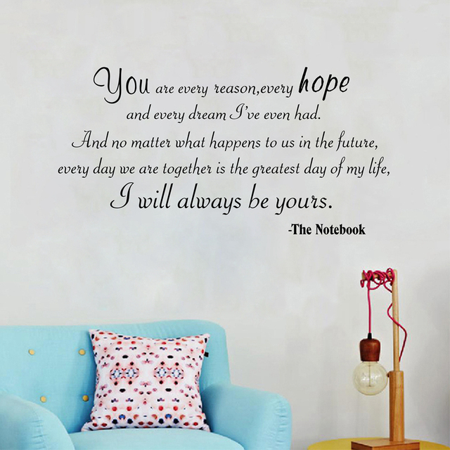 I Will Always Be Yours Love Quotes Vinyl Wall Sticker Motivational Inspiration Love Quotes Wall Art