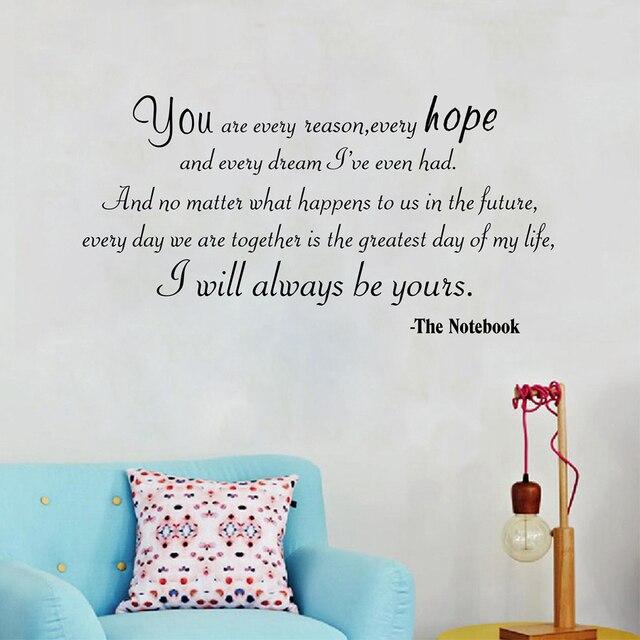 Ich Werde Immer Werden Yours Liebe Zitate Vinyl Wand Aufkleber Motivation Sagen Wand Kunst