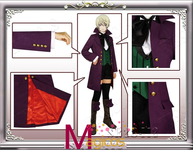 Black Butler Season 2 Earl Alois Trancy Uniforme Cosplay fiesta de - Disfraces - foto 2
