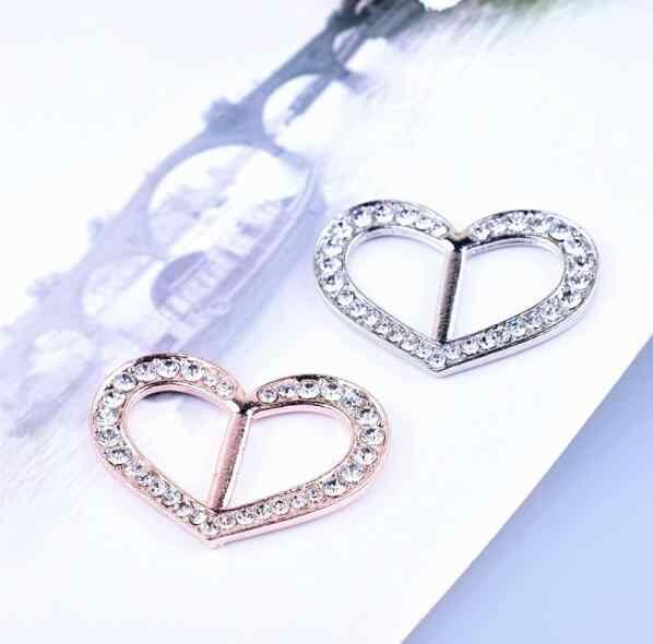 Baru Fashion Sederhana Syal Gesper Kristal Alloy Hati Bentuk Syal Gesper Wanita Perhiasan Aksesoris