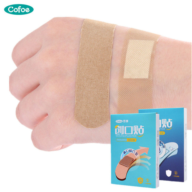 US $1 98 |Cofoe 20pcs Waterproof Band Aids/Wound Plaster/Sticking  Plaster/Sterile Plaster/Disposable Medical Adhesive Bandage/Woundplast-in  Braces &