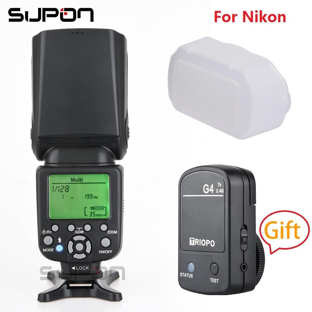 TRIOPO TR-982N III Caméra Flash Speedlite LCD je-TTL 2.4G Sans Fil + cadeau TX G4 2.4 Trigger pour nik * sur D600 D800E D7000 D300 D80