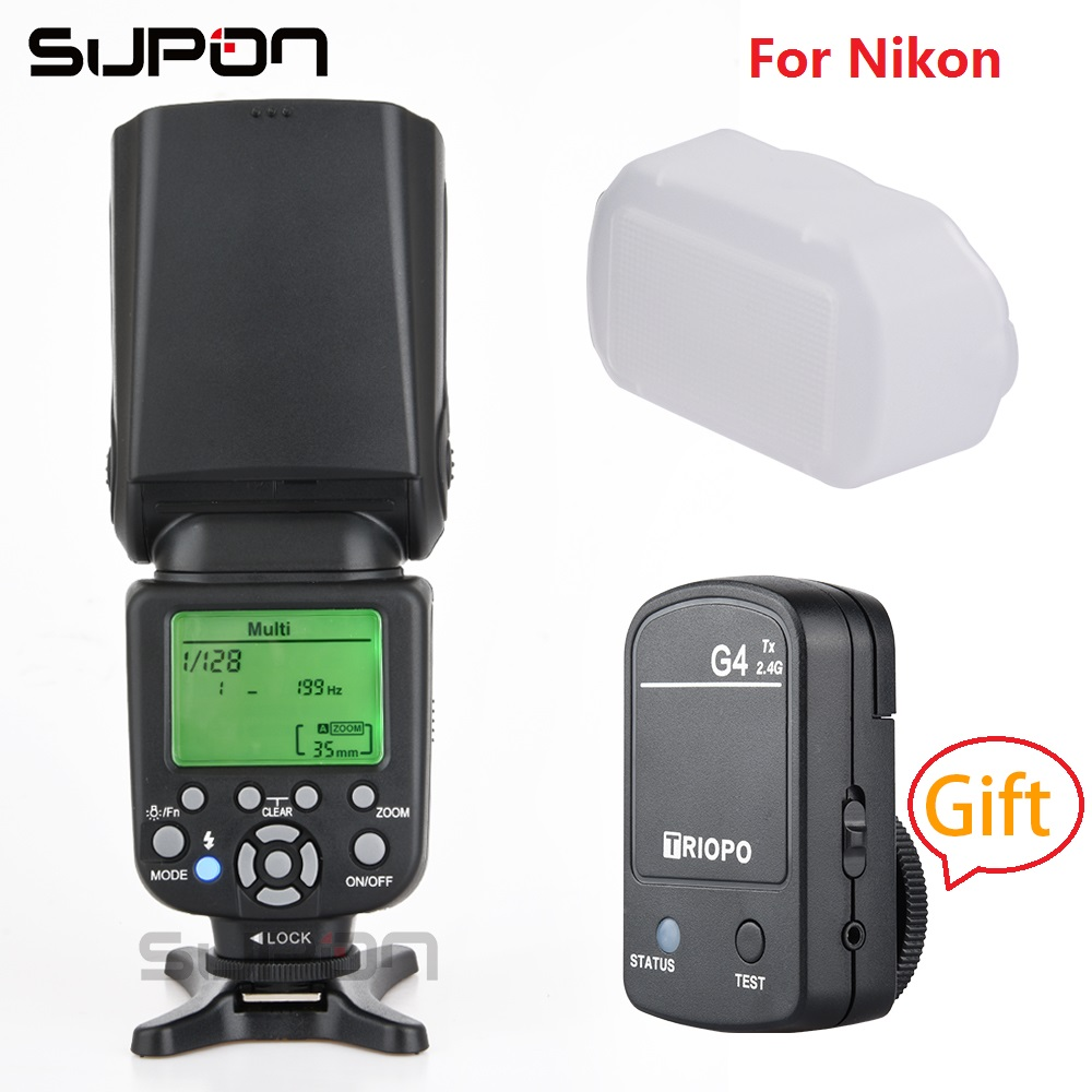 TRIOPO TR-982N III Camera Flash Speedlite LCD i-TTL 2.4G Wireless + gift TX G4 2.4 Trigger for Nik*on D600 D800E D7000 D300 D80