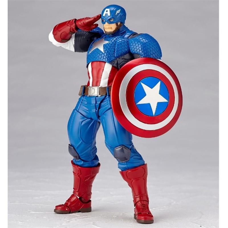 Revoltech Amazing Red Venom Carnage Amazing Captain America Spiderman Magneto Wolverine X-men Action Figures Toy Doll (10)