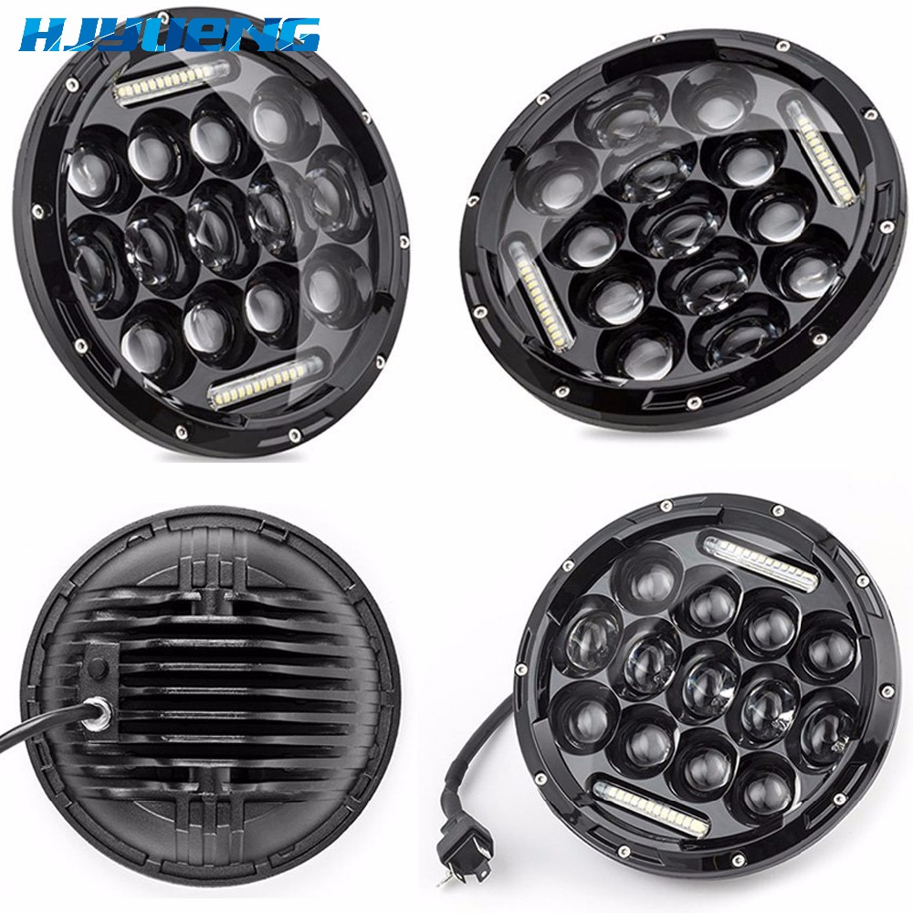 "Image 2 - HJYUENG For UAZ Hunter Suzuki Samurai LED Projector headlight 7"" LED headlamp Light Lamp 7inch For Lada 4x4 urban Niva-in Car Light Assembly from Automobiles & Motorcycles"