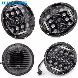 "Image 2 - HJYUENG For UAZ Hunter Suzuki Samurai LED Projector headlight 7"" LED headlamp Light Lamp 7inch For Lada 4x4 urban Niva"
