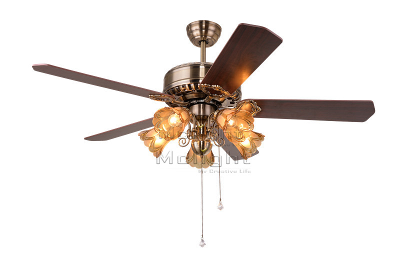 Ceiling Fans For Dining Area: Modern Ceiling Fan With Light Kits For Restaurant Hotel