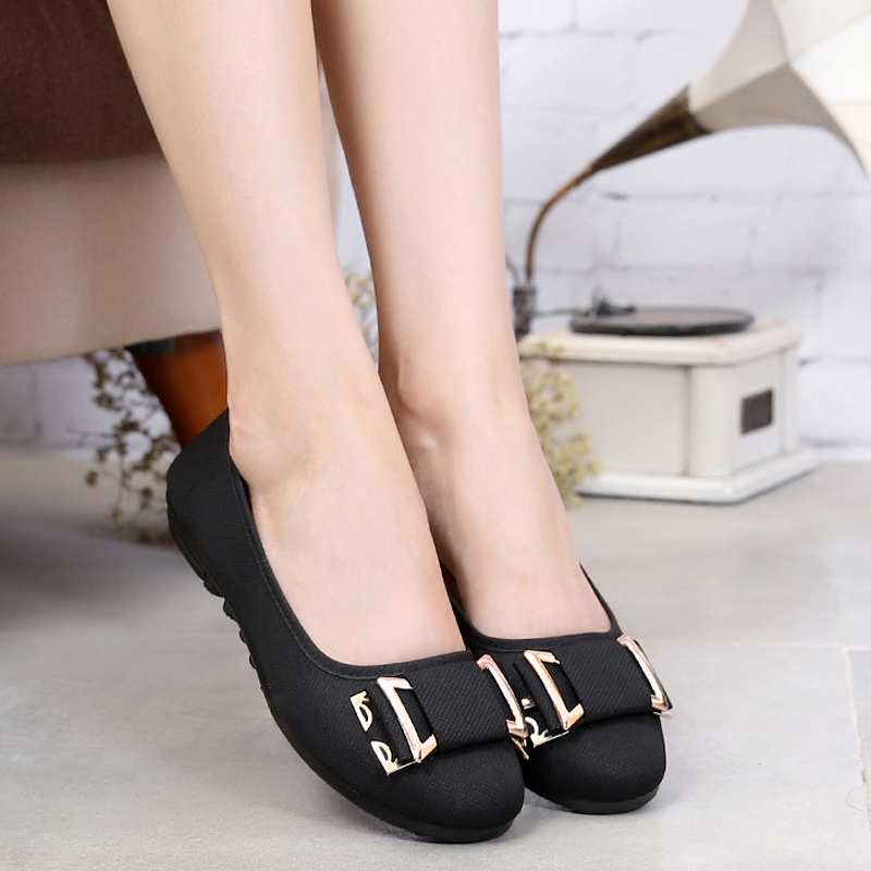 Cotton-made beijing shoes female wedges single shoes cotton-made shoes shallow mouth bow black work shoes female cotton-made managing projects made simple