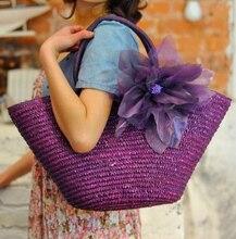 Stroh Bag Neue Heiße Sommermode Strand Taschen Gewebt Licht Material Frauen Tasche Kostenloser Versand A1139