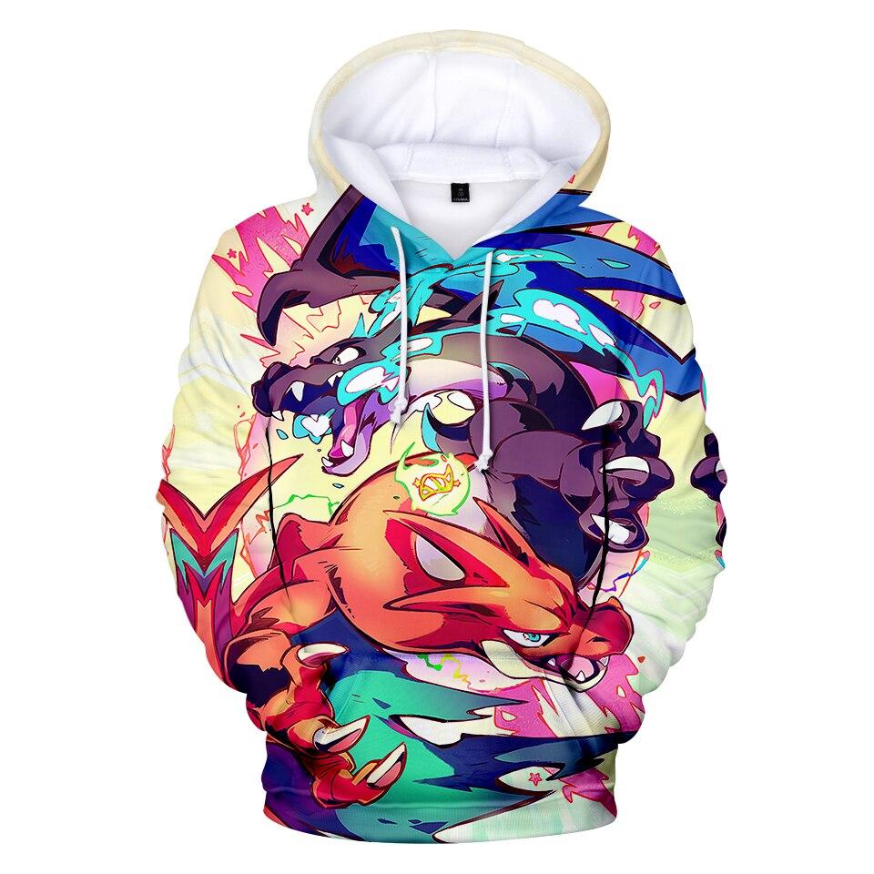 Hoodies & Sweatshirts Humor Mr.baolong Brand Clothing Harajuku Hoodies 3d Print Cartoon Anime Pokemon Sweatshirt Hooded Women Men Tops Pullover Clothing Beautiful And Charming