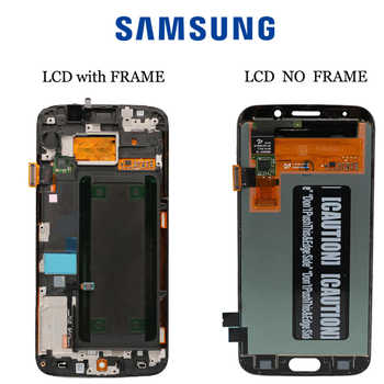 5.1\'\'ORIGINAL SUPER AMOLED LCD with Frame for SAMSUNG Galaxy s6 edge Display G925 G925I G925F Touch Screen Digitizer