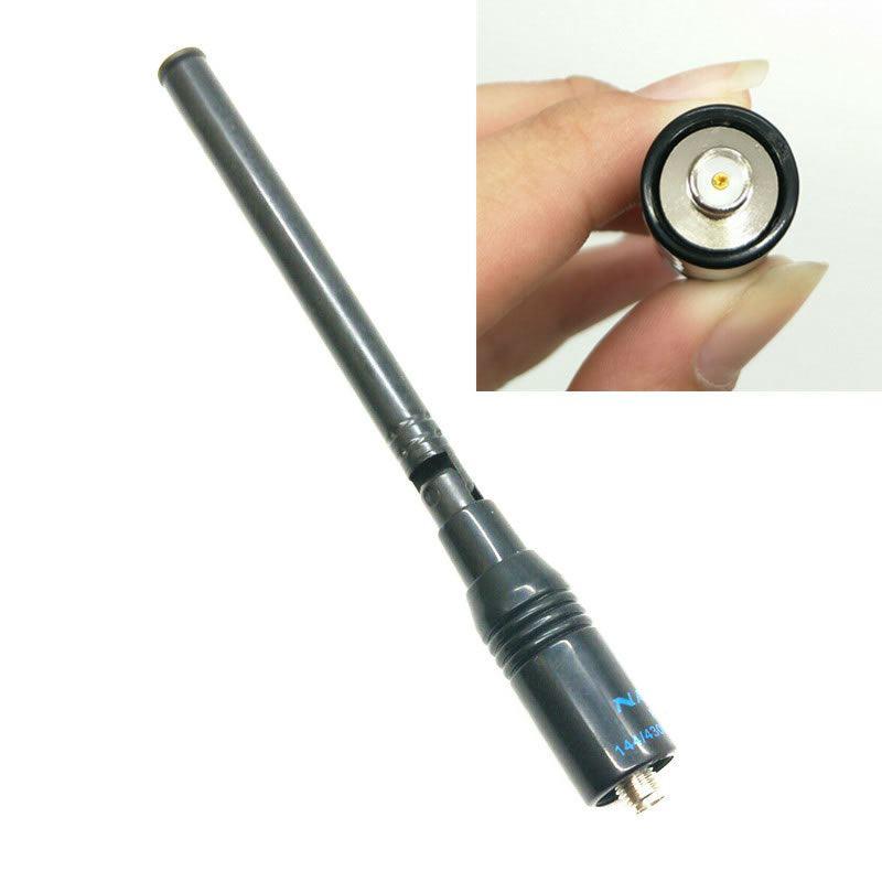 מכונות כביסה ומייבשים VHF UHF נאגויה NA-774 SMA-F Dual טלסקופיים אנטנה Band עבור Baofeng ניידת רדיו UV-5R UV-5RE פלוס UV-82 GT-3 מכשיר הקשר (1)