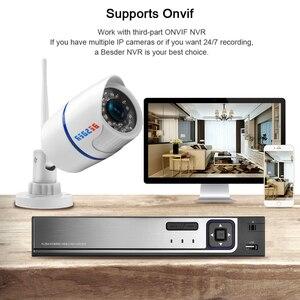 Image 5 - BESDER אודיו 720P 1080P Wifi Ip CCTV מצלמה חיצונית מעקב לבן Waterptoof Onvif אלחוטי מצלמה עם כרטיס SD חריץ CamHi