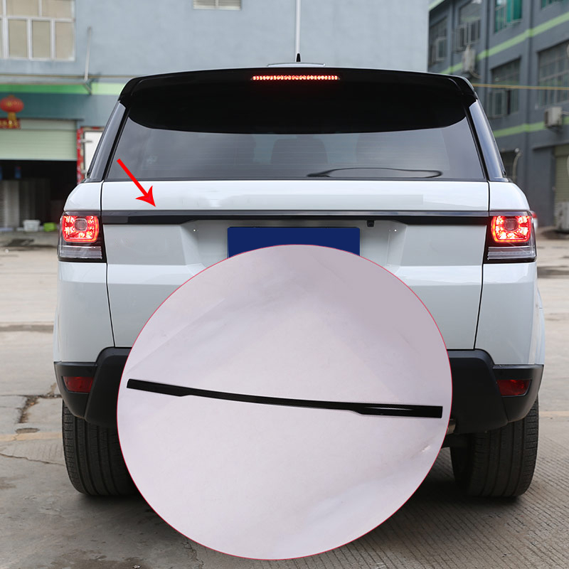 Noir brillant ABS Chrome pour Range Rover Sport RR Sport 2014-2017 voiture porte arrière coffre couvercle bande garniture Auto accessoires