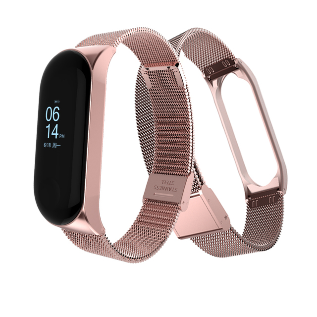 Metal Strap for Mi band 3 Smart Band Strap for Xiaomi Mi Band 3 Smart Bracelet Accessories Replacement mi band Strap.